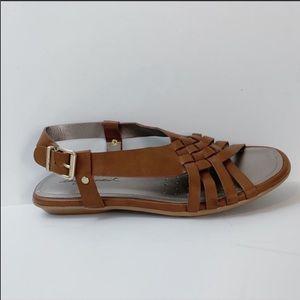 Easy Spirit Shoes - EASY SPIRIT Brown Eresto Woven Gladiator Sandals